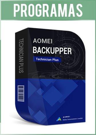 AOMEI Backupper Versión Technician Plus Full Español